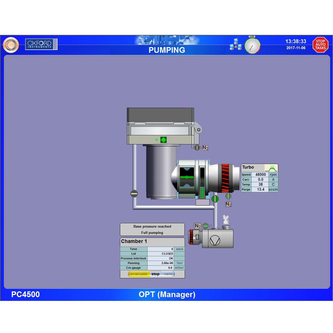PC4500 Oxford Instruments Plasma Technology Software